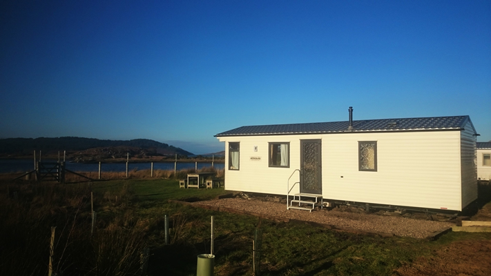 Self catering caravan 1 on shore of Arivegaig Bay, Ardnamurchan Scotland