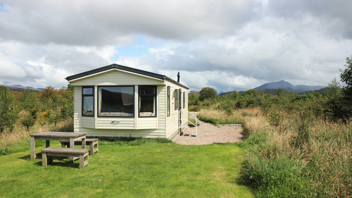 Self catering caravan 2 on shore of Arivegaig Bay, Ardnamurchan Scotland