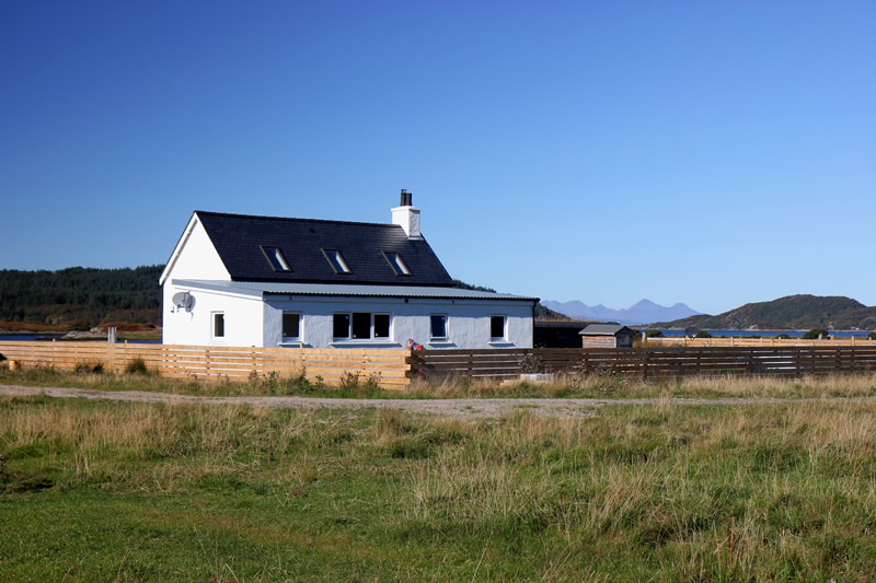 Macneils Croft Self catering house on shore of Arivegaig Bay, Ardnamurchan Scotland